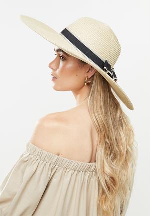 Anya straw hat - neutral
