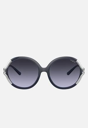 Vogue round sunglasses - violet gradient dark grey