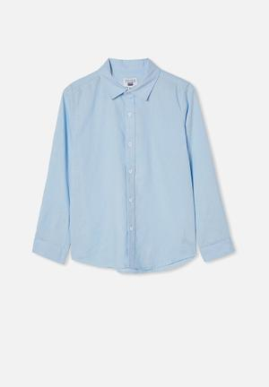 Free boys harper ls shirt - frosty blue