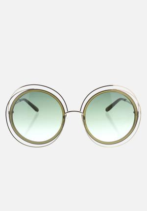 Chloe sunglasses  - gold khaki
