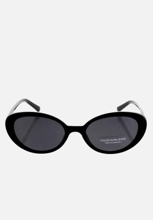 Calvin klein jeans oval sunglasses - black