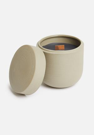 Lines candle - natural