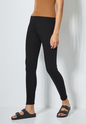 7/8 rib leggings - black