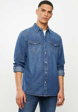 Denim regular fit  shirt - light blue