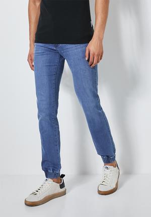 Cade slim cuffed jeans - blue