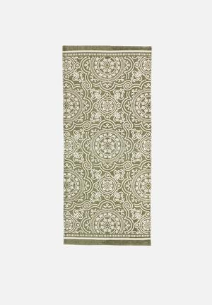 Taj printed runner - green