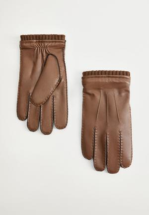 Gloves sport - medium brown