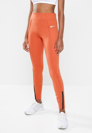 Nws legasee zip legging - orange