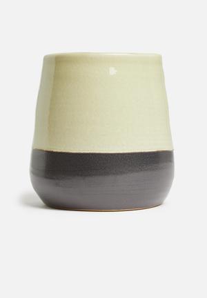 Ceramic pot - stone grey