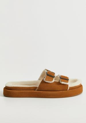 Vacay suede slipper - brown