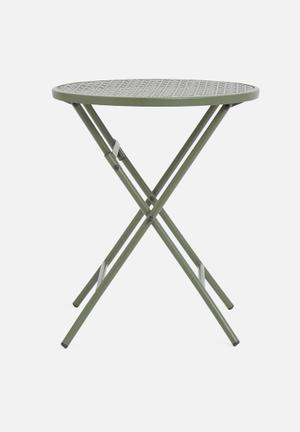 Punch folding outdoor table - green