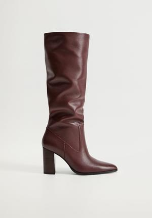 Boby leather boot - dark red