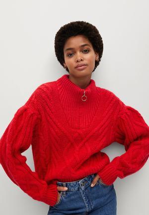 Sweater zippo - red