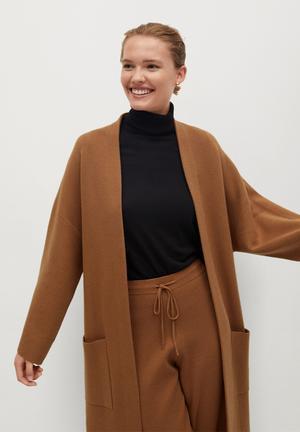 Cardigan sol-a - medium brown