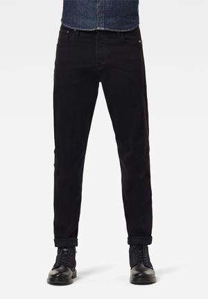 Scutar 3d slim-nero black stretch denim - black