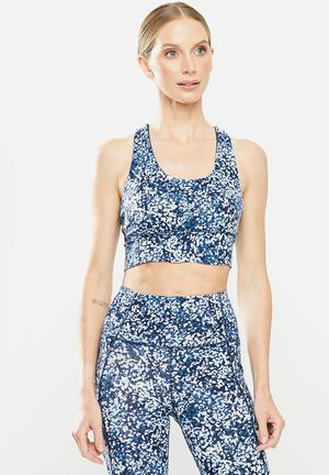 Ultimate longline crop - blue & white