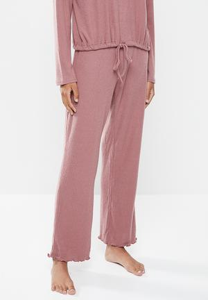 Super soft relaxed pant - purple