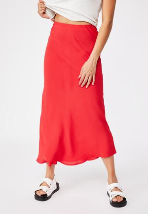 All day slip skirt - lucky red