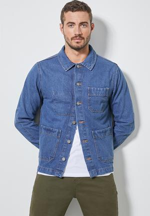 Shoreditch worker jacket - blue