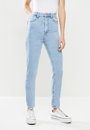 Ultra high super stretch jeans - blue