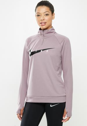 1/2 Zip through swoosh midlayer - purple