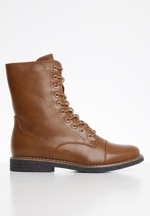 Denny combat boot - tan