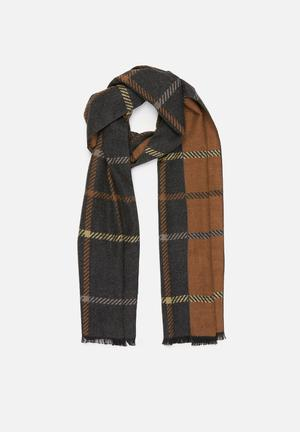 Glen plaid scarf - multi