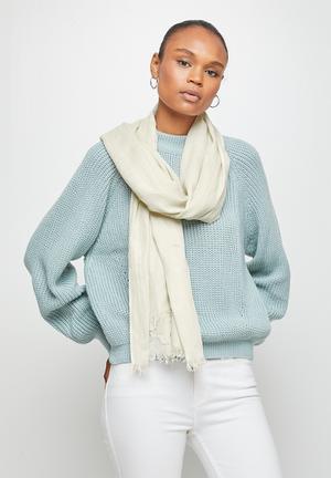 Infinity light weight scarf - cream