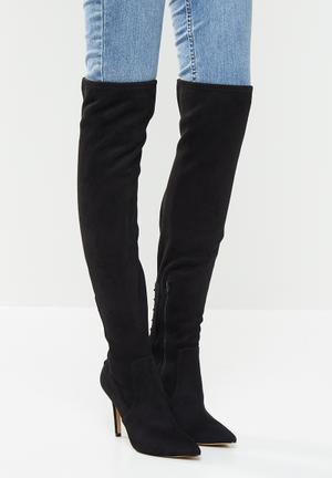 Mereallyra over the knee boot - black