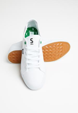 Jake lace-up sneaker - white