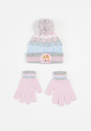 Paw Patrol beanie and glove set - multi