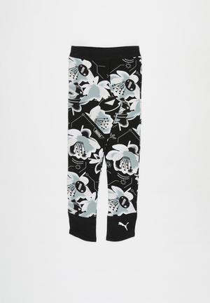 Girls alpha aop leggings - multi