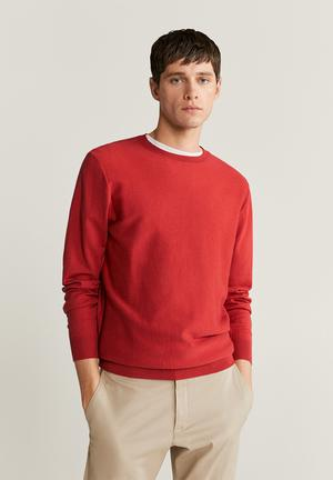Ten Cotton Cashmere-blend  sweater knitwear - red