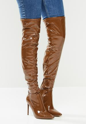 Vava over the knee boot - brown