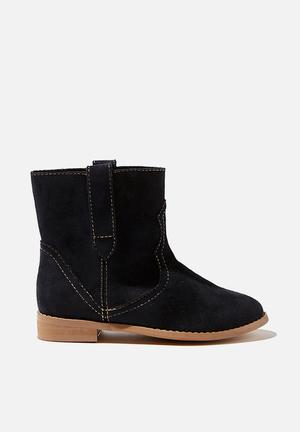 Slouch western boot - black