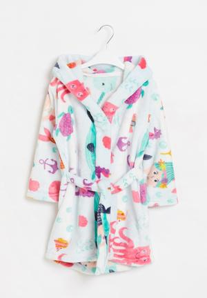 Girls hooded gown - multi
