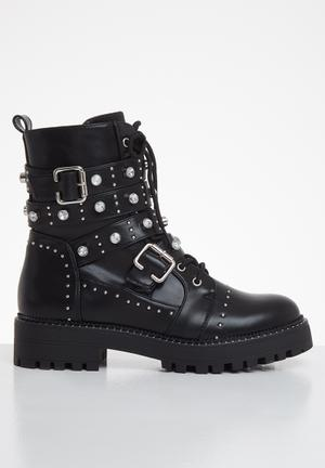 Bling the changes grunge boot - black