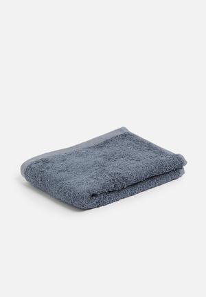 Nara bamboo cotton towel - bluestone
