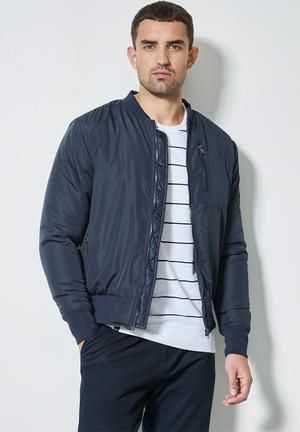 Nevada padded bomber jacket - navy