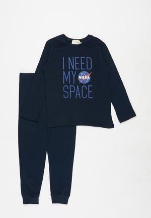 Nasa top & pants pj - navy