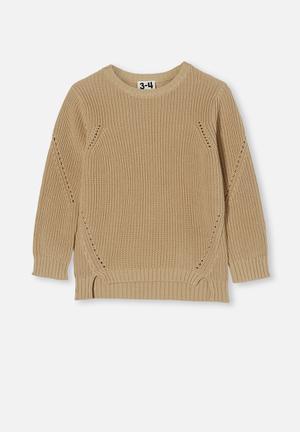 Blair knit crew - semolina