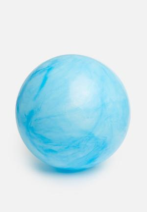 Marble swirl yoga ball - blue