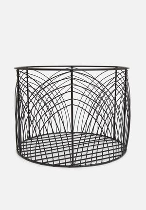 Rae wire basket - black