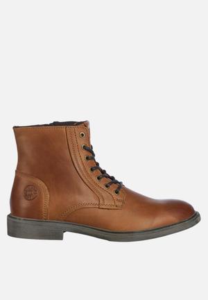 Karl leather boot - tan