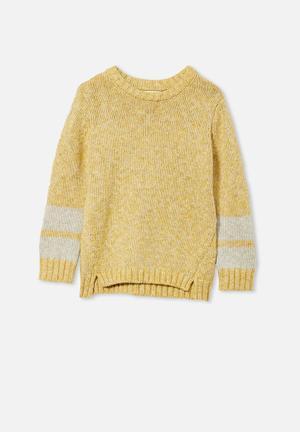 Blair knit crew - honey gold twist