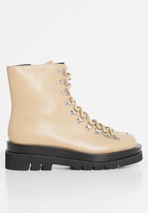 Mia military boot - beige