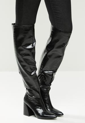 Vitta knee high boot - black