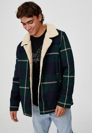 Ranch jacket - green navy check