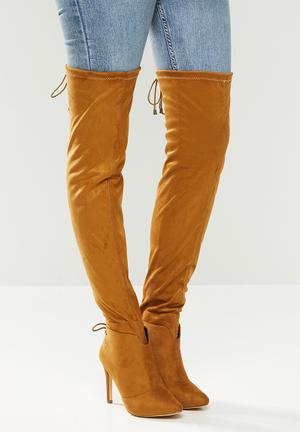 Belle 4 over the knee boot - tan