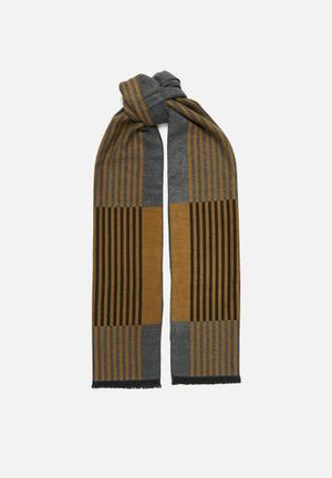 Infinity scarf - brown & grey